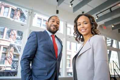 man and woman marketing their small business